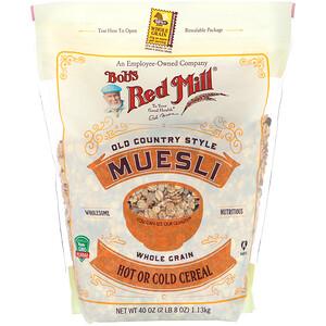 Бобс Рэд Милл, Muesli, Old Country Style, Whole Grain, 40 oz (1.13 kg) отзывы покупателей