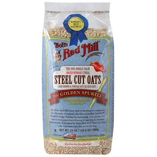 Bob's Red Mill, Steel Cut Oats, Natural Cereal, 1.5 lbs (680 g)