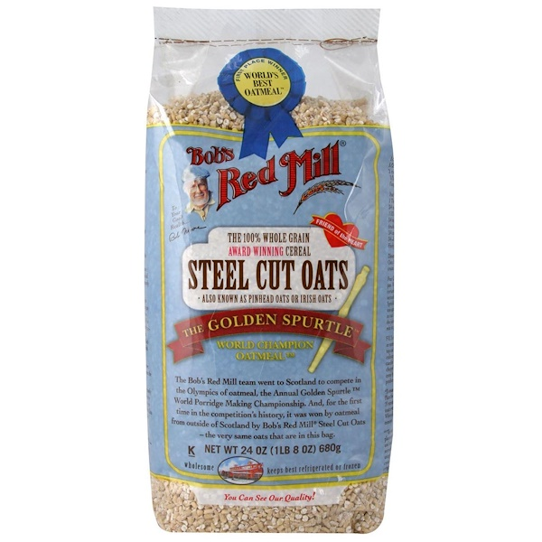 Bob's Red Mill, Steel Cut Oats, Whole Grain, 24 oz (680 g) (Discontinued Item)