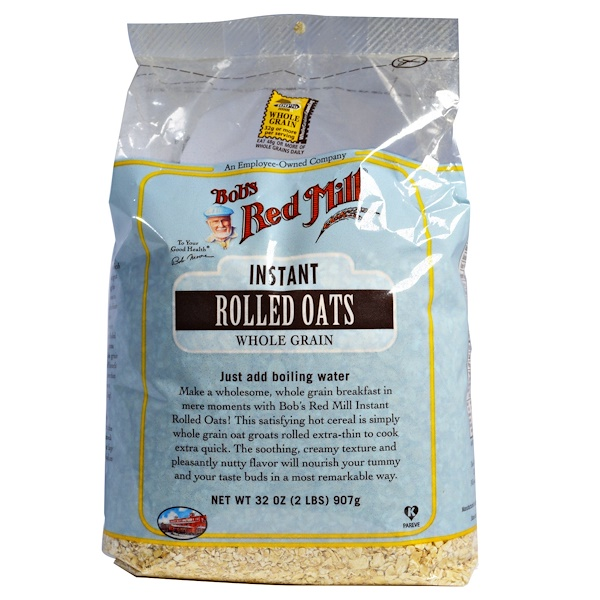 Bob's Red Mill, Instant Rolled Oats, Whole Grain, 2 lbs (907 g)