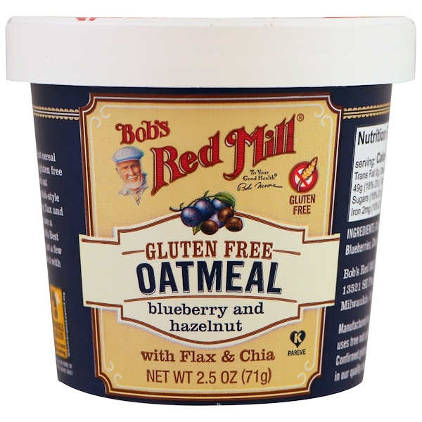 Oatmeal, Blueberry and Hazelnut, 2.5 oz (71 g)