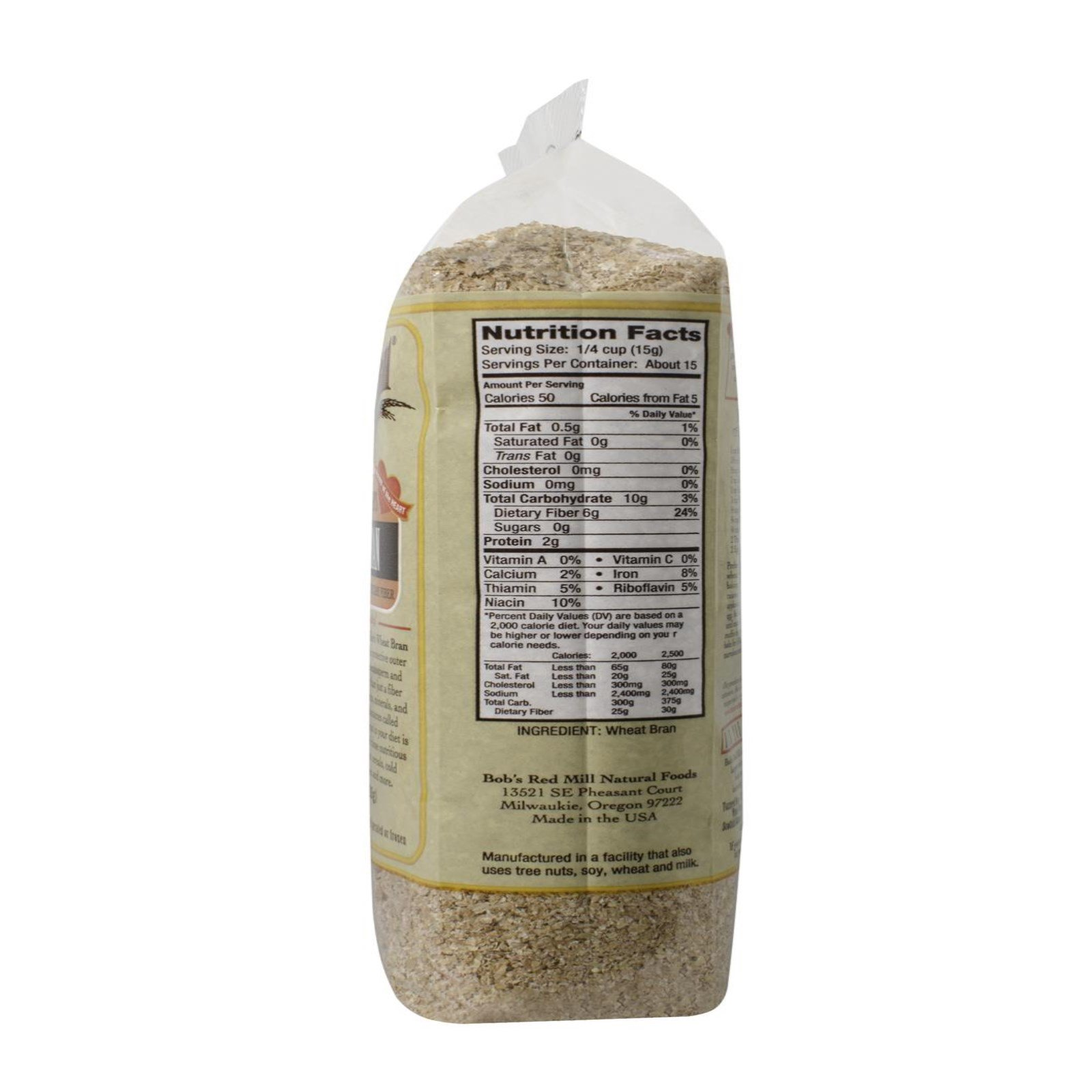 Bob's Red Mill, Unprocessed Miller's Wheat Bran, 8 oz (226 g) (Discontinued  Item)