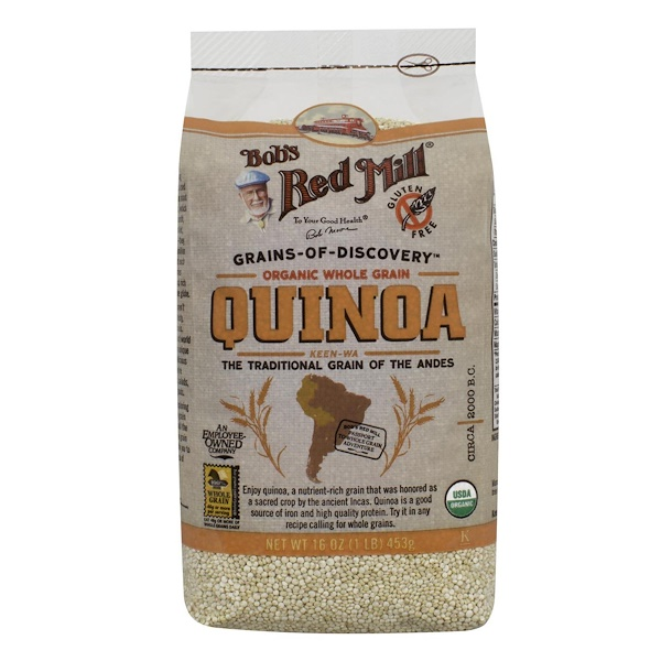 Bob's Red Mill, Organic Whole Grain Quinoa, 16 oz (453 g) (Discontinued Item)