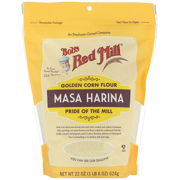 Bob's Red Mill, Golden Corn Flour, Masa Harina, 22 oz (624 g)