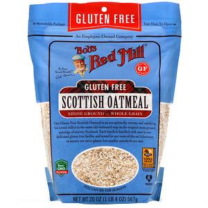 Бобс Рэд Милл, Scottish Oatmeal, Whole Grain, Gluten Free, 20 oz (567 g) отзывы покупателей
