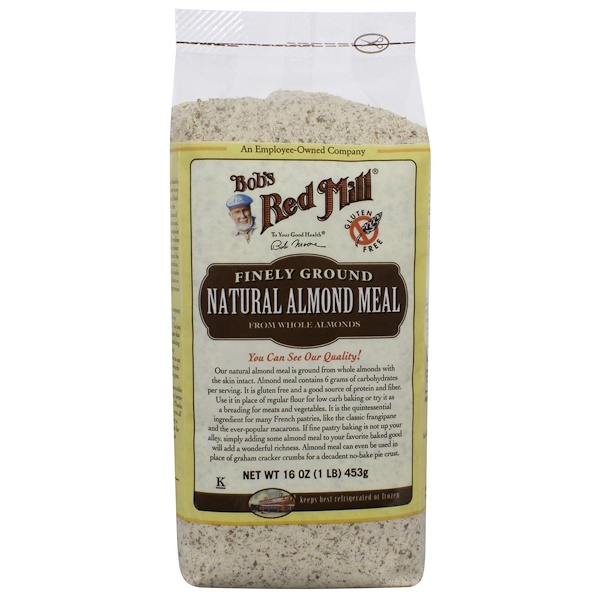 Bob's Red Mill, Natural Almond Meal, Finely Ground, 16 oz (453 g)