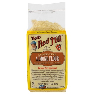 Bob's Red Mill, Almond Meal / Flour, Gluten-Free, 16 oz (453 ج)Super-Fine Almond Flour, Gluten-Free, 16 oz (453 g)