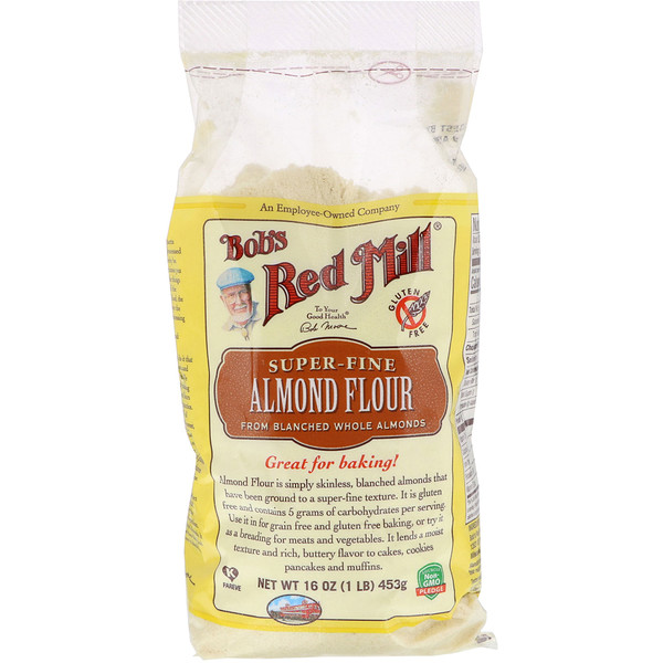 Bob's Red Mill, Super-Fine Almond Flour, Gluten-Free, 16 oz (453 g) (Discontinued Item)