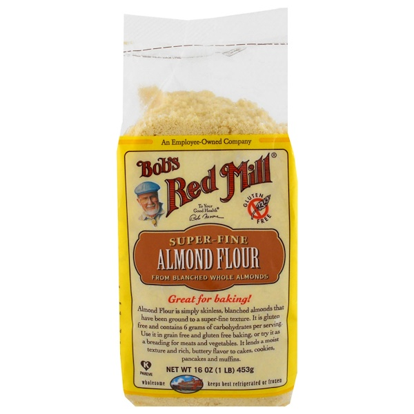 Bob's Red Mill, Super-Fine Almond Flour, Gluten-Free, 16 oz (453 g)