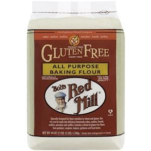 Bob's Red Mill, Универсальная мука для выпечки, не содержит глютен, 44 унции (1.24 кг)