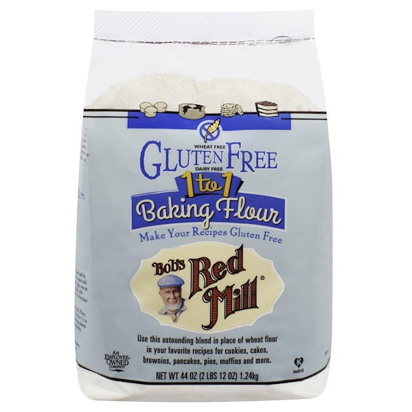 Bob's Red Mill, 1 to 1 Baking Flour, 44 oz (1、24 kg)