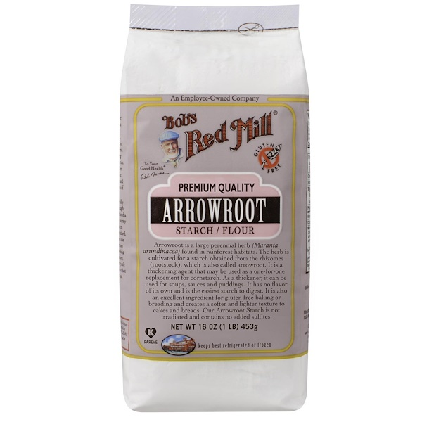 Bob's Red Mill, نشا/ طحين Arrowroot، 16 أوقية (453) (Discontinued Item)