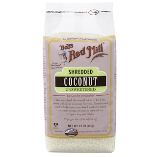 Bob's Red Mill, Shredded Coconut, Unsweetened, 12 oz (340 g)