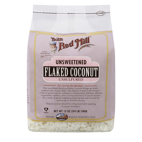 Bob's Red Mill, Flaked Coconut, Unsweetened, 12 oz (340 g) (Discontinued Item)