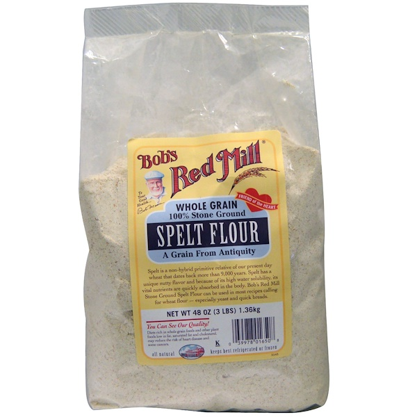 Bob's Red Mill, Spelt Flour, 48 oz (1.36 kg) (Discontinued Item)