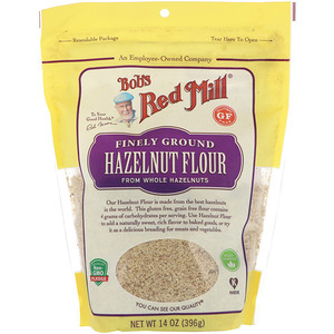 Bob's Red Mill, Finely Ground Hazelnut Flour, Gluten Free, 14 oz (396 g)