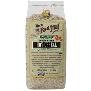 Бобс Рэд Милл, Organic Whole Grain High Fiber Hot Cereal with Flaxseed, 16 oz (453 g) отзывы