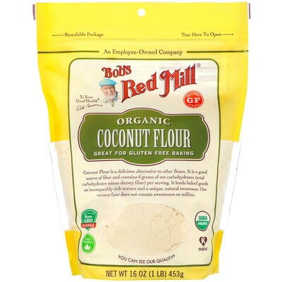 Купить Bob's Red Mill Органическая кокосовая мука, без глютена, 453г (16унций)