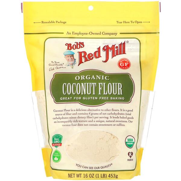 Organic, Coconut Flour, Gluten Free, 16 oz (453 g)
