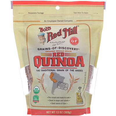 Купить Bob's Red Mill Organic Red Quinoa, Whole Grain, 13 oz (369 g)