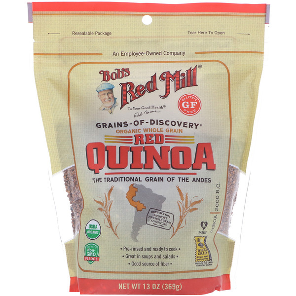 Bob's Red Mill, Organic Red Quinoa, Whole Grain, 13 oz (369 g)