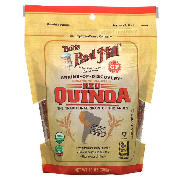Organic Red Quinoa, Whole Grain, 13 oz (369 g)