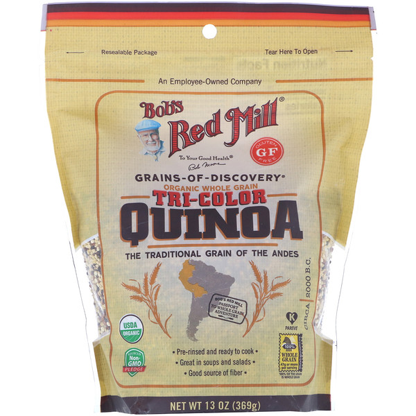 Bob's Red Mill, Organic, Whole Grain Tri-Color Quinoa, 13 oz (369 g)