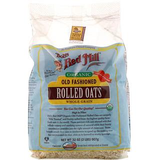 Bob's Red Mill, 有機老式燕麥片,全穀物,32盎司(2磅)907克