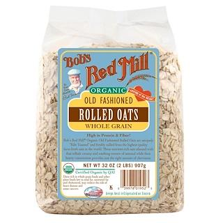 Bob's Red Mill, オールドファッション・ロールドオーツ、全粒、 32オンス( 2ポンド) 907グラム
