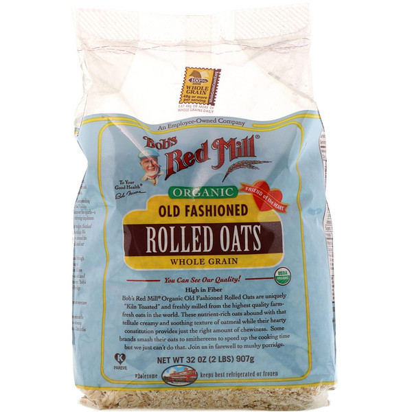 Bob's Red Mill, Organic Old Fashioned Rolled Oats, Whole Grain, 32 oz (907 g) (Discontinued Item)