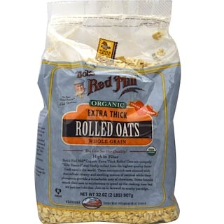 Bob's Red Mill, Organic, Extra Thick Rolled Oats, 2 lbs (907 g)