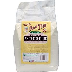Бобс Рэд Милл, Organic White Rice Flour, 48 oz (1.36 kg) отзывы