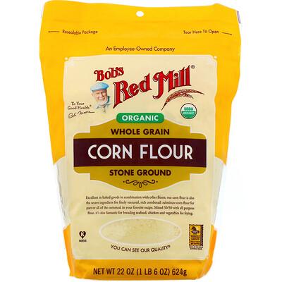 Купить Bob's Red Mill Органическая кукурузная мука, цельнозерновая, 624г (22унции)