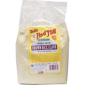 Бобс Рэд Милл, Organic Brown Rice Flour, Whole Grain, 48 oz (1.36 kg) отзывы