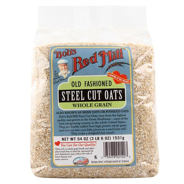 Bob's Red Mill, Steel Cut Oats, 54 oz (3 lbs 6 oz) 1,531 g