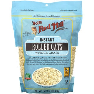 Bob's Red Mill, Instant Rolled Oats, Whole Grain, 16 oz (454 g)