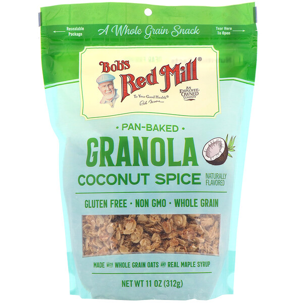 Bob's Red Mill, Granola Assada, Tempero de Coco, 312 g (11 oz)