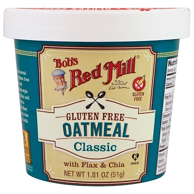 Bob's Red Mill Oatmeal, Classic, With Flax & Chia, 1.81 oz (51 g)