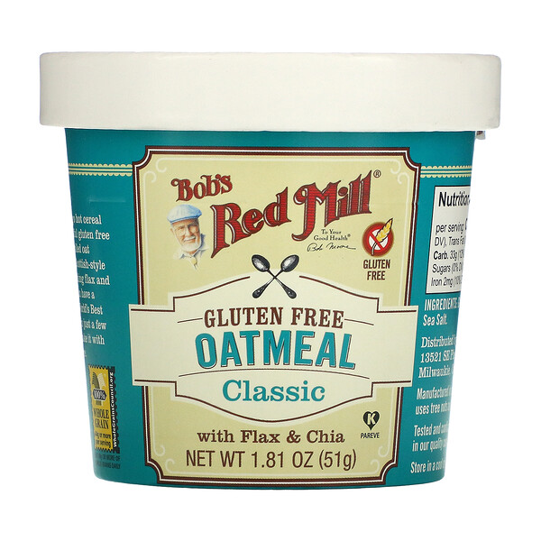 Oatmeal, Classic, With Flax & Chia, 1.81 oz (51 g)