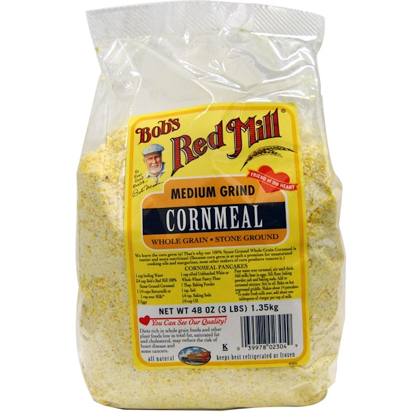 Bob's Red Mill, Cornmeal, Medium Grind, 48 oz (1.35 kg) (Discontinued Item)