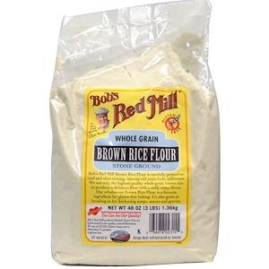 Бобс Рэд Милл, Brown Rice Flour, Whole Grain, 48 oz (1.36 kg) отзывы