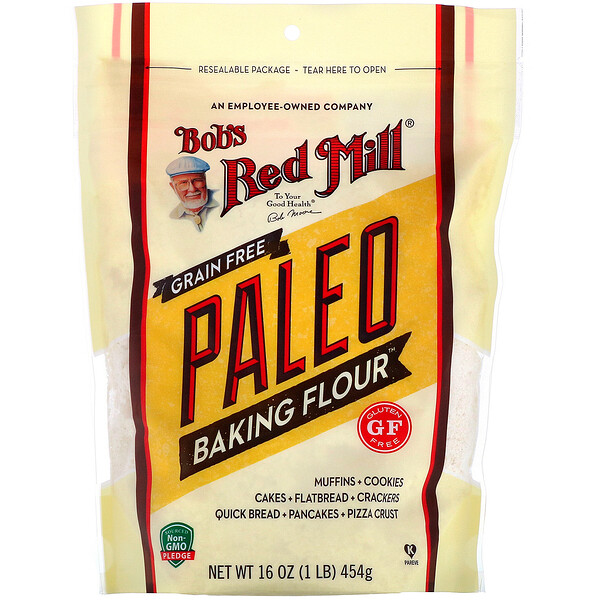 Bob's Red Mill, Paleo Baking Flour, Grain Free, Gluten Free, 16 oz (454 g)