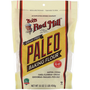 Bob's Red Mill, Grain Free Paleo Baking Flour, Gluten Free, 16 oz (454 g)