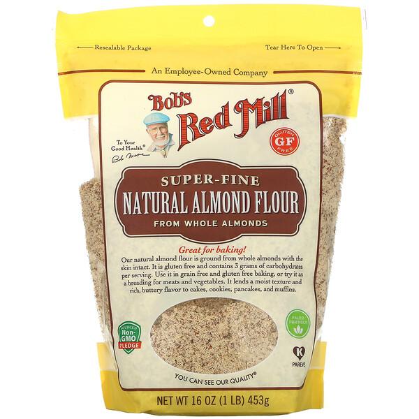 Natural Almond Flour, Super Fine, 16 oz (453 g)