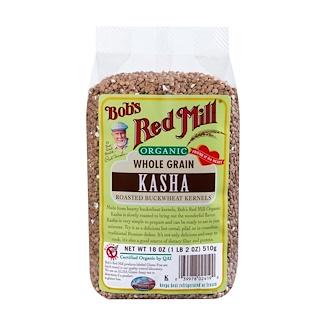 Bob's Red Mill, Organic, Whole Grain, Kasha, 18 oz (510 g)