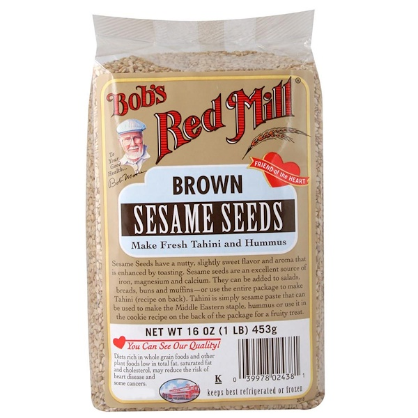 Bob's Red Mill, Коричневые семена кунжута, 16 унций (453 г) (Discontinued Item)