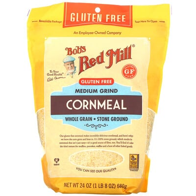 Купить Bob's Red Mill Medium Grind, Cornmeal, 24 oz (680 g)