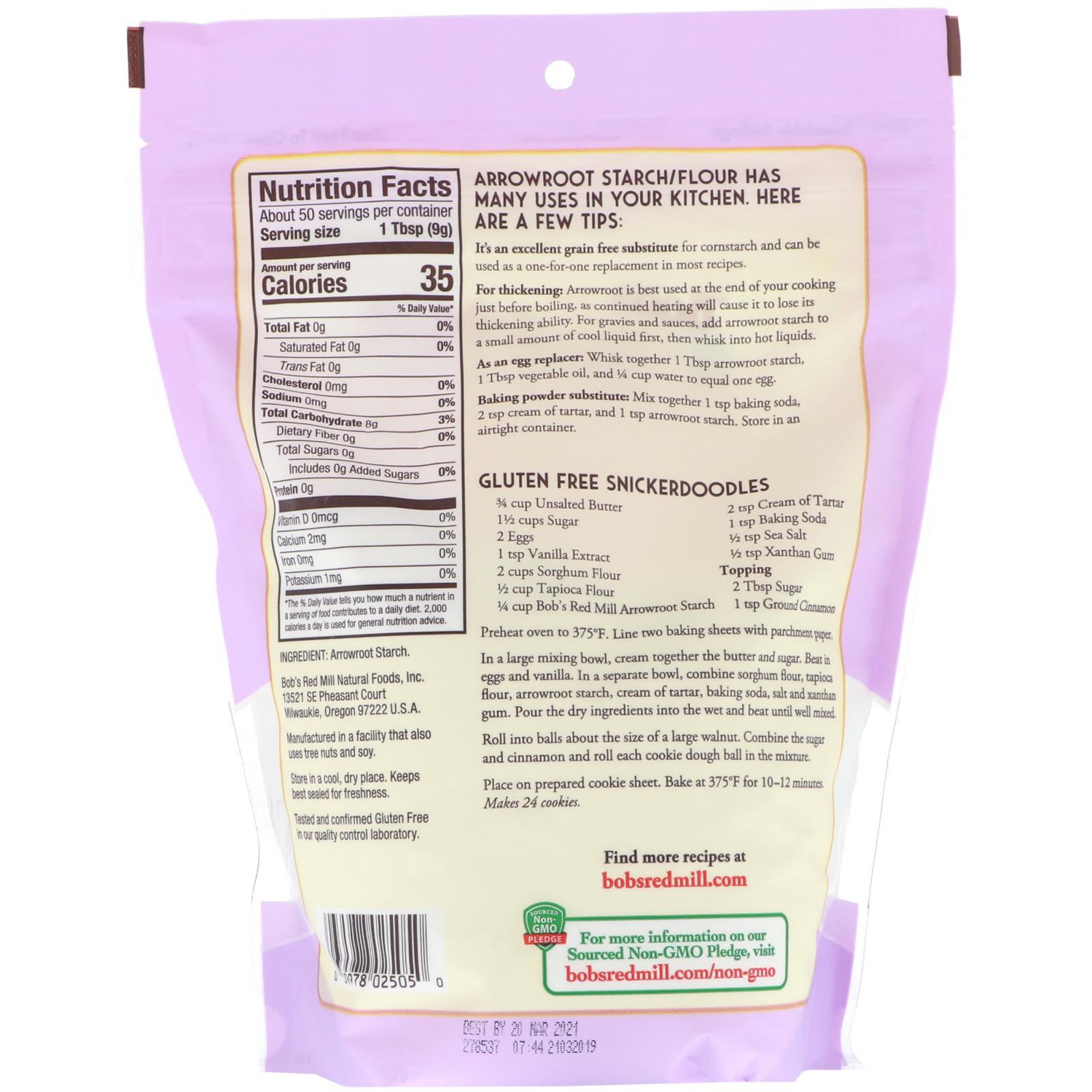 Bob's Red Mill, Arrowroot Starch/Flour, Gluten Free, 16 oz