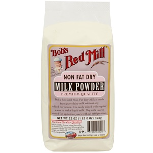 Bob's Red Mill, Сухое молоко, нежирное, 22 унции (623 г)