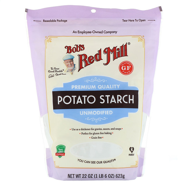 Bob's Red Mill, Almidón de patata, sin modificar, sin gluten, 623 g (22 oz)